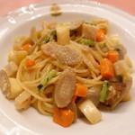 ピッツェリア・サバティーニ - 根菜とアンチョビのペペロンチーノスパゲッティーニ