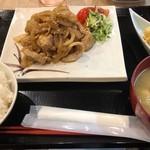 117597472 - 豚生姜焼き定食