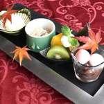 三田 春帆楼 - 料理写真:【デザートセット】 +700円(サ込・税別) ※コーヒーまたは紅茶付 ※全てのコースにお付けできます