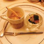 コット ア コット - 料理写真:3種の小前菜(1種食べちゃいました)