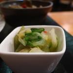 伊食酒房HIME - 白菜と茄子の漬物