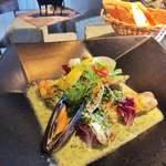 シェフ・デ・ブッチョ - 本日のお魚料理 甘鯛のほうれん草クリームソース