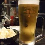 117613886 - お通し&生ビール
