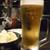 地鶏坊主 - ドリンク写真:お通し&生ビール