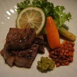 Kamenoibessou - 柚子胡椒ともろみで食べる豊後牛