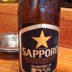 魚の四文屋 - ビンビール(中)500円