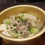 梅田食堂 - 牛スジ3種煮