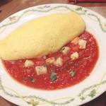 卵と私 - モッツァレラチーズのトマトソース
