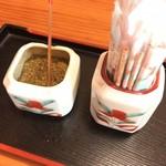 うなぎの美鶴 - テーブル薬味 山椒