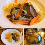 HOTEL REGINA - 夕食,メイン。HOTEL REGINAホテルレジーナ(ウェンゲン,スイス)食彩品館.jp撮