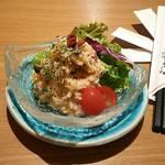 さば銀 - ベーコンと木の子の明太ポテトサラダ