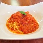 石窯キッチン HACCI - カニのトマトクリームスパゲッティ