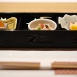 神戸牛 しゃぶしゃぶ おもき 離れ - 前菜三種(季節の料理)