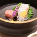 神戸牛 しゃぶしゃぶ おもき 離れ - 旬鮮魚の二点盛り