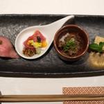 神戸牛 しゃぶしゃぶ おもき 離れ - 肉菜の彩り四点