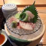和海味処 いっぷく - 鯛、蛸、鮃の造り