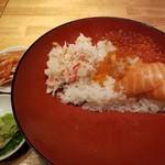 魚河岸千両 - イクラサーモン親子+カニ丼。
