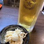 かんぐん - お通しと生ビール