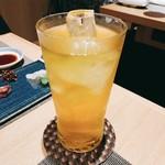 割烹 おみたま - 緑茶ハイ    550円