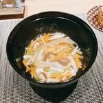 割烹 おみたま - フカヒレの野菜餡