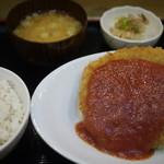なみ一 - 日替わり定食(ミンチカツ)