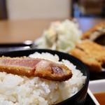 牛カツ京都勝牛 - ご飯大盛り無料です