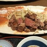 117713514 - サービスランチ(ステーキ肉) 1,089円 ♪