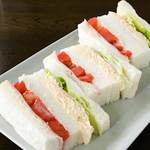 自家焙煎珈琲 森の響 - ミックスサンドイッチ