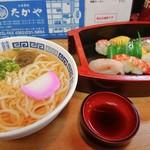たかや寿司 - 料理写真:お寿司とうどんのセット
