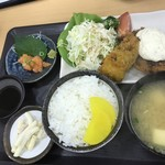 ごはん処 藤井堂 - 肉厚アジフライ定食