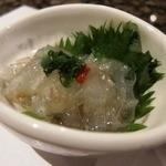 11773413 - お通し 「のれそれ」  穴子の稚魚です。 美味。