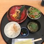 旬菜三山 - 焼き魚2種盛膳(税込み1320円)