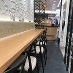 旬菜三山 - イートインコーナーのカウンター