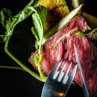 厳選された神戸牛を一番いい料理で