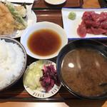 天房 - まぐろ刺身定食1350円。味の濃いまぐろがたっぷりです(╹◡╹)。とても美味しかったです(╹◡╹)
