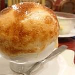 レストラン野っぽ - 名物「きのこスープ」。中はコーンスープ