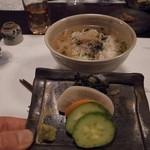 翡翠之庄 - 食事 幻のエノハ茶漬けと香の物