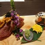 117750593 - 神戸牛炙り寿司