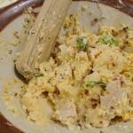 串カツ田中 - ポテトサラダを潰して混ぜたところ