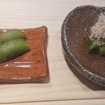 117757288 - 伏見の甘長唐辛子と丹波の黒枝豆