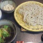 11777119 - 鴨つくねせいろとご飯+小鉢