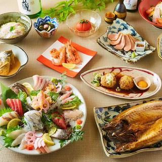 【金華サバ】など厳選した三陸の海の幸とこだわりの食材を使用。