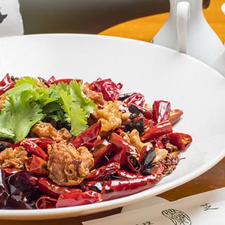 芝蘭 - 料理写真:鳥からあげのとうがらしいため