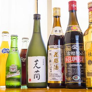 オリジナルの焼酎のほか、紹興酒や中国茶などもございます◎