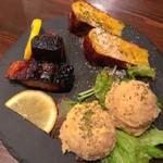 旬菜酒鉄板イチケン食堂 - おまかせ3種盛り
