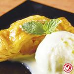 HOTアップルパイとバニラアイス
