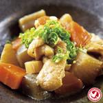 とり皮と根菜の味噌煮