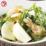 鶏生ハムと白カブ・春菊のサラダ仕立て