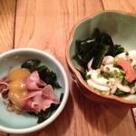 魚真 - ホタルイカと白子ポン酢