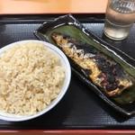 海鮮食堂おくどさん - トロサバと、麦ごはん中_2019年10月